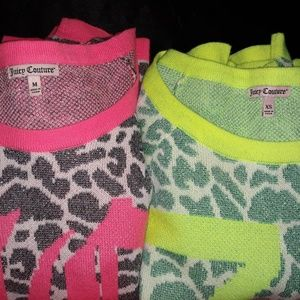 2 JUICY COUTURE sweaters